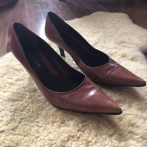 Enzo Angiolini Leather Pointy Heels